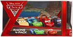 Cars 2 Movie - Racing 4-Pack Lightning McQueen, Max Schnell, Jeff Gorvette, Carla Veloso