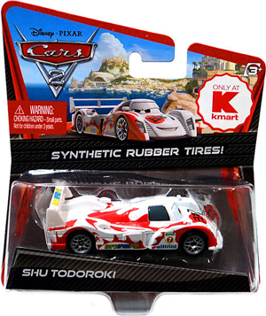 Cars 2 Movie Kmart Exclusive - Synthetic Rubber Tires - Shu Todoroki
