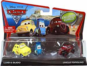 Cars 2 Movie - 3-Pack - Luigi, Guido, Uncle Topolino