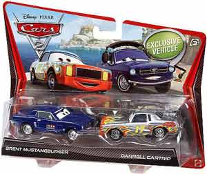 Cars 2 Movie - 2-Pack - Brent Mustangburger and Darrel Cartrip
