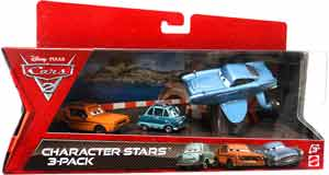 Cars 2 Movie - Character Stars 3-Pack - Grem, Professor Z, Submarine Finn McMissle