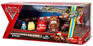 Cars 2 Movie - Porto Corsa Welcome 5-Pack - Guido, Luigi, Lightning McQueen, Mater, Uncle Topolino