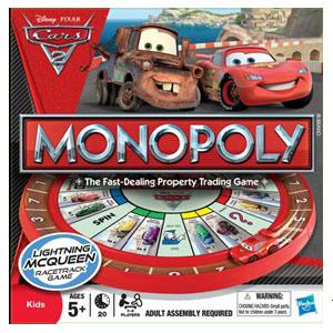 Disney Cars 2 Movie - Monopoly