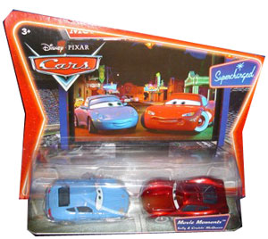 Cars The Movie Die-Cast: Supercharged Sally and Cruisin McQueen