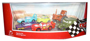 Cars The Movie Disney Store: Lightning McQueen, Sarge, King, Tractor, Ramone, Luigi