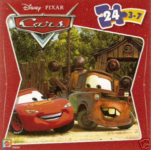 Cars The Movie Puzzle - McQueen and Mater in Scrap Yard