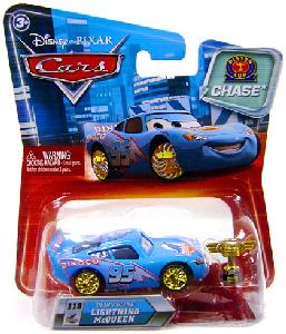 Cars Lenticular Eyes 2 - Chase Piston Cup Bling Bling Lightning McQueen