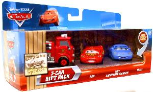 Disney Cars Lenticular - 3-Car Gift Pack - Red, Wet Lightning McQueen, Sally