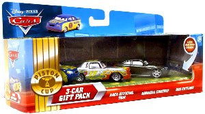 Disney Cars Lenticular - 3-Car Gift Pack - Race Official Tom, Darrell Cartrip, Bob Cutlass