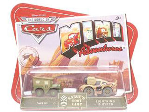 Cars Mini Adventures - Sarge Boot Camp - Sarge and Lightning McQueen