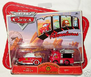 Cars Mini Adventures - Fire Department - Doc Hudson and Red
