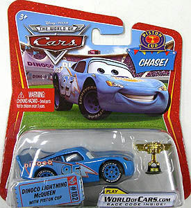 Race O Rama - Chase Dinoco Lightning McQueen with Piston Cup