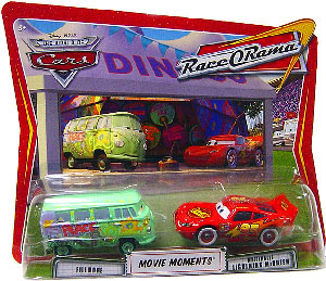 Race O Rama - Movie Moments - Fillmore and Whitewalls Lightning McQueen