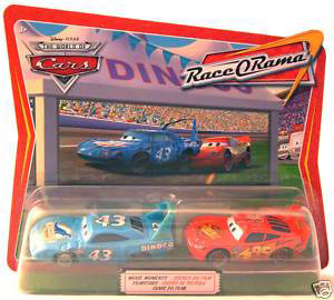 Race O Rama - Movie Moments - Damaged King and Lightning McQueen