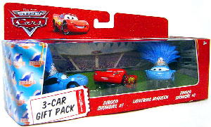 World Of Cars - 3-Car Gift Pack Boxed - Dinoco Showgirls and Lightning McQueen