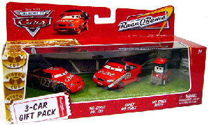 World Of Cars - 3-Car Gift Pack Boxed - No Stall, Chief No Stall, No Stall Pitty