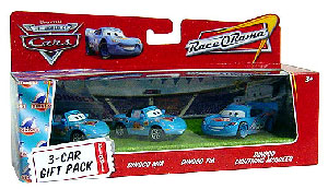 World Of Cars - 3-Car Gift Pack Boxed - Dinoco Mia, Dinoco Tia, Dinoco McQueen