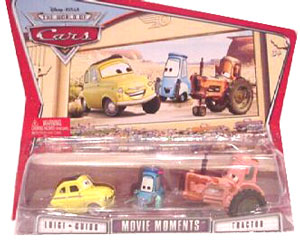Disney Pixar World Of Cars - Luigi Guido and Tractor