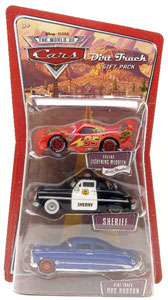 Dirt Track Gift Pack - Cactus McQueen, Sheriff, Dirt Track Doc Hudson