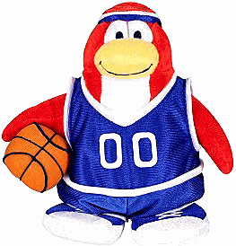 Club Penguin Plush - Basketball Player
