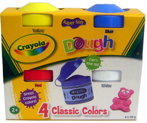 Crayola Dough Classic Colors - Yellow, Blue, Red, and White