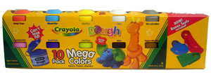 Crayola - Mega Colors Dough 10 Pack - Neon