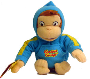 7-Inch Plush: Curious George Aqua Hood