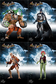 Batman Arkham Asylum - Series 2 Set of 4
