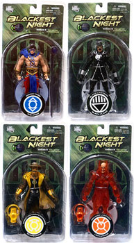 Blackest Night - Series 8 Set of 4