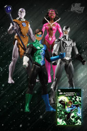 Blackest Night Box Set (Indigo Munnk, Green Lantern Hal Jordan, Black Lantern Blue Beetle, Star Sapphire Fatality)
