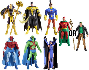 DC Universe - Series 15 set of 7[Random Starman, Random Martian Manhunter]