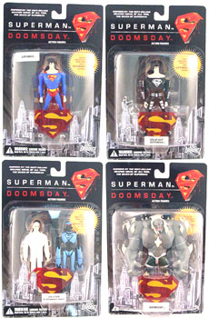 Superman Vs Doomsday Set of 4