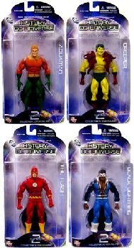 History of The DC Universe - Series 2 Set of 4