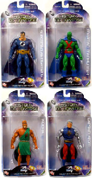 History of The DC Universe - Series 4 Set of 4