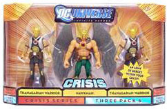 DC Universe Crisis - Tenagarian Warriors and Hawkman,