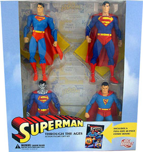 SUPERMAN THROUGH THE AGES Action Figure Gift Set