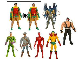 DC Universe Series 16 - Set of 6 - Bane - [RANDOM ROBIN]