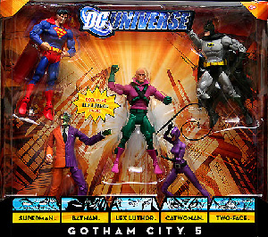 DC Universe - Gotham City 5- Superman, Batman, Catwoman, Two-Face, Lex Luthor