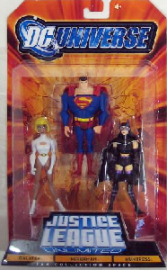 DC Universe - Justice League Unlimited: Galatea, Superman, Huntress