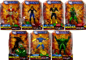 DC Universe - Series 9 Set of 7 [Build Chemo] - [Random WildCat or Mantis]
