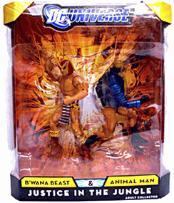 DC Universe - Justice In The Jungle - B Wana Beast and Animal Man