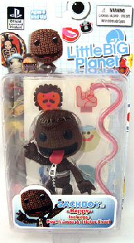 Little Big Planet - Sackboy -Happy- Open Mouth