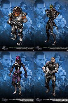Mass Effect 2 - Series 1 Set of 4