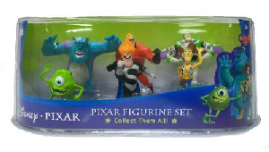 Disney Pixar Figurine Set [Monsters Inc, The Incredibles, Toy Story]