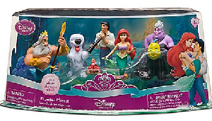 Disney The Little Mermaid PVC Mini Figurine Collector Set