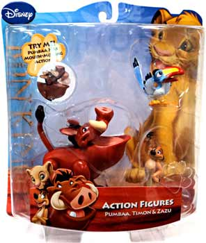 Disney Lion King Mini Figure - Pumbaa, Timon, Zazu