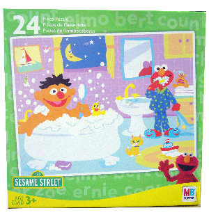 Sesame Street 24 PCS Puzzle - Elmo and Ernie Bathroom