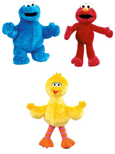 9-Inch Sesame Street Plush Set of 3