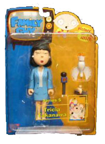 Family Guy Series 5 - Tricia Takanawa Blue Suit Variant
