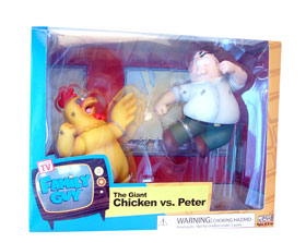 Family Guy Original 2-Pack The Giant Chicken Vs Peter